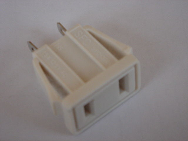 USA Electrical Power Plug Socket Adapter , Wall Receptacle Outlet 125VAC 15A