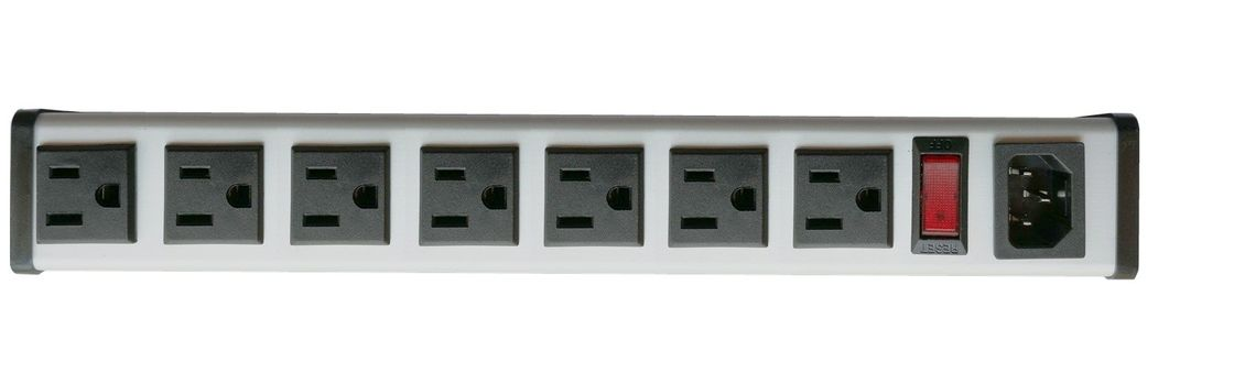 "SFC-IEC-A1B series 5 to 14"" 15Amp  metal Hardwired Power Strip with 7Outlets"