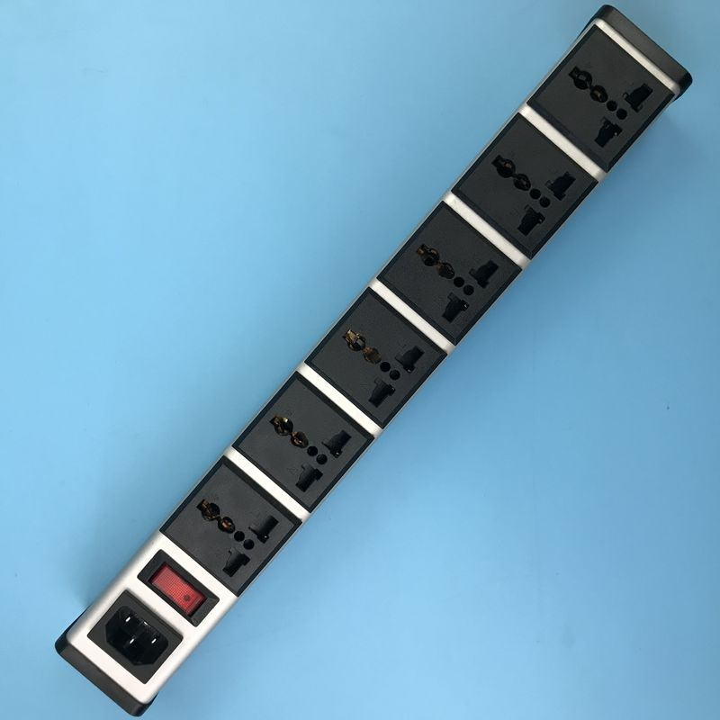 Multifunction Network Intelligent PDU IEC320 C14 Inlet, 6 Outlets Universal Power Strip